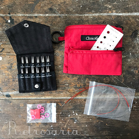 ChiaoGoo TWIST Shorties Red Lace Interchangeable Knitting Set