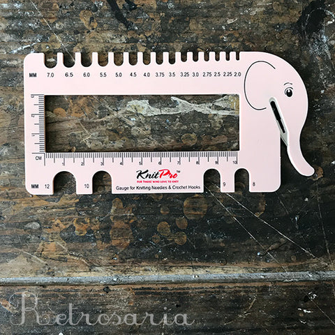 Calibrador de agulhas KNITPRO Knitting needle & crochet gauge