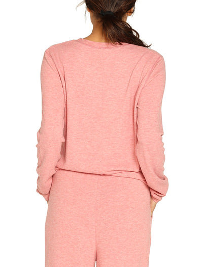 Feather Soft Pink Long Sleeve Top