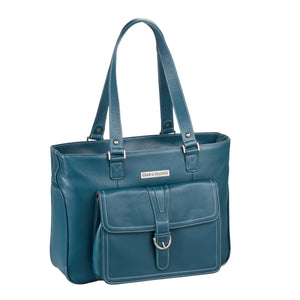 "15.6"" Stafford Leather Pro Handbag -  Deep Teal"