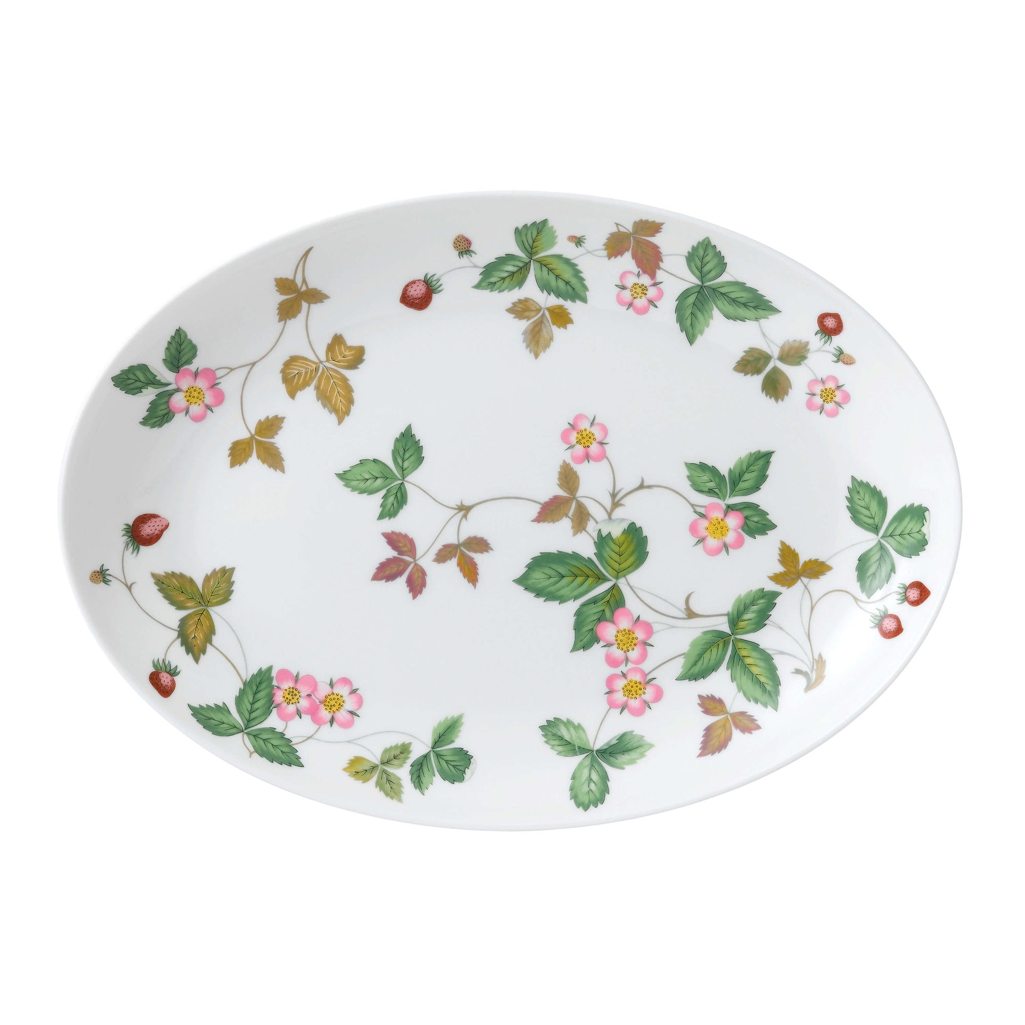 Wild Strawberry Oval Coupe Plate 30cm