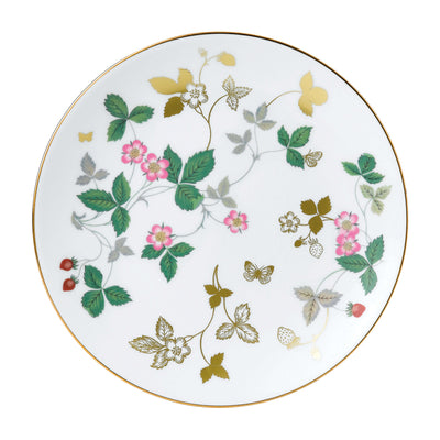 Wild Strawberry Gold Coupe Plate 20cm