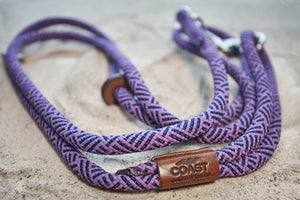 Purple and Midnight Blue Rope Leash