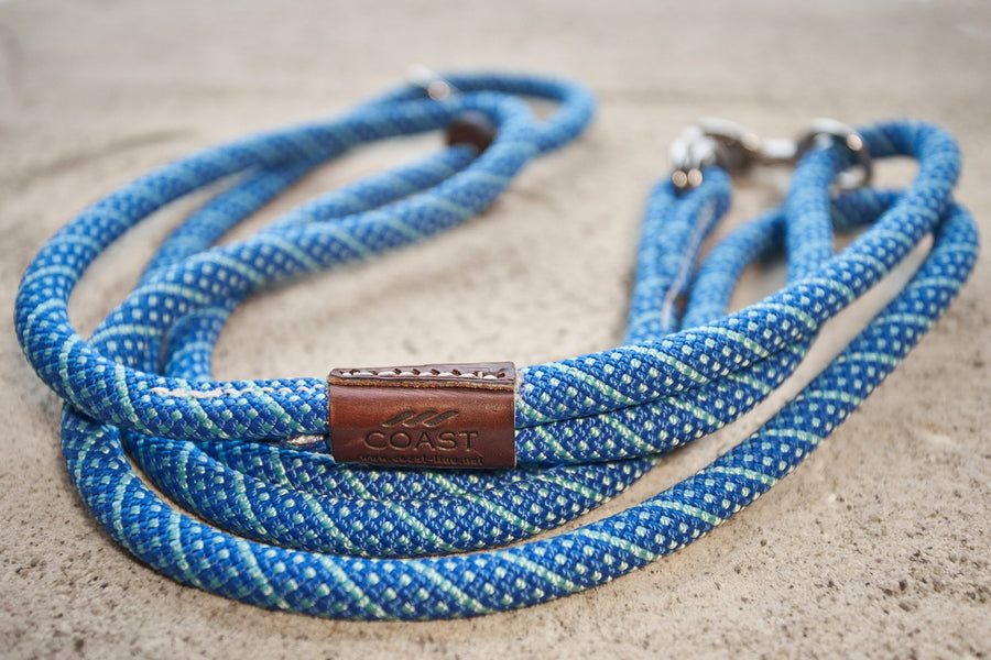 Turquoise and Blue Rope Leash