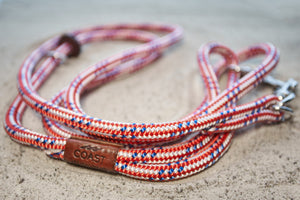 Red White and Blue Rope Leash