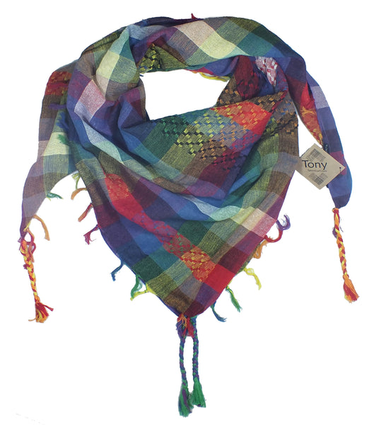 Tony keffiyeh rainbow by Tahrir Scarf (neck fold)