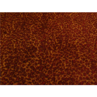 Anti-Pill Brown Red Leopard Fleece F951