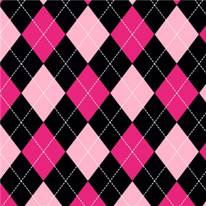 Premium Anti-Pill Classic Argyle Pink Fleece F1537