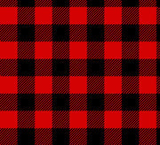 Premium Anti-Pill Buffalo Plaid Red Black Fleece F1489