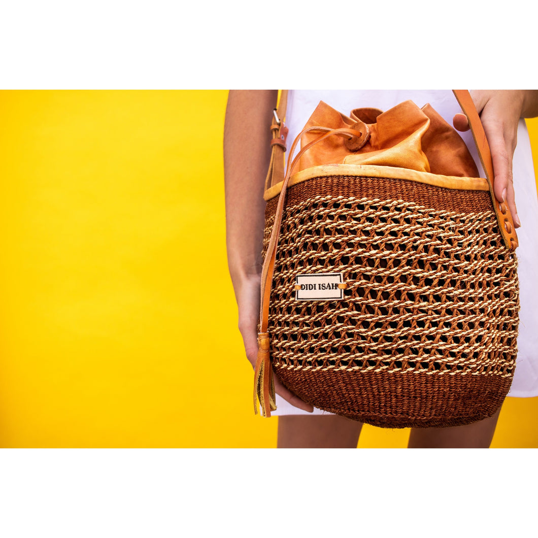 Yemi Duffle (Available Natural, Brown, Tan brown leather)