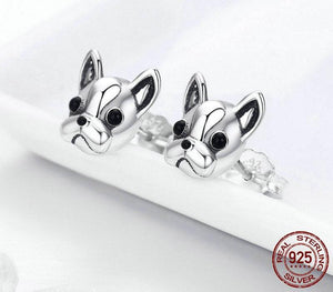 Frenchie Corner® 100% 925 Sterling Silver French Bulldog Earrings