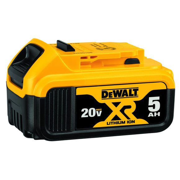 DeWalt DCB205 Battery, 5 Ah Max Xr Lithium-Ion, 20 V, For Use With 20 V Cordless Tools
