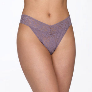 Rolled Signature Lace Original Rise Thong