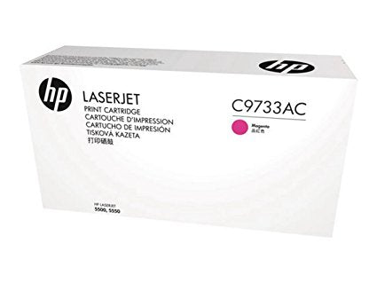 HP 645A (C9733AC) Color LaserJet 5500 5550 Magenta Original LaserJet Contract Toner Cartridge (12000 Yield)