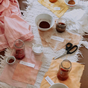 PLANT BASED FABRIC DYEING WORKSHOP - JULY 20TH 3-6 PM at SUNVIBES STUDIO