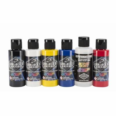 Wicked Multi-Surface Airbrush Colors  - Primary Set