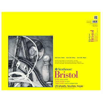 "Strathmore 300 Series Bristol Paper Pad - Vellum Surface - 20 Sheets 14""X17"""
