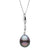 Black Tahitian Baroque Pearl Icicle Pendant, 11.0-12.0mm