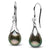 Tahitian Drop-Shape Pearl and Diamond Lily Dangle Earrings, 14K Gold