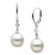 White South Sea Pearl and Diamond Aerie Collection Dangle Earrings