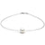 White South Sea Round Pearl Solitaire Fixed Omega Necklace