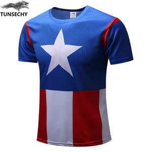 Mens Fitness T Shirt - Captain America Classic