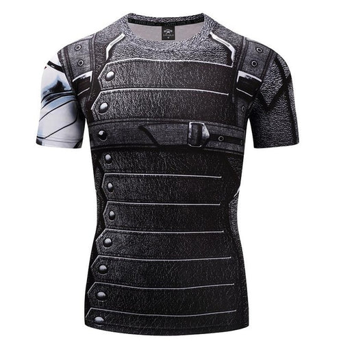 Mens Fitness T Shirt - Winter Soldier