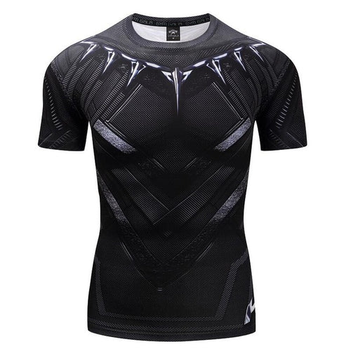 Mens Fitness T Shirt - Black Panther