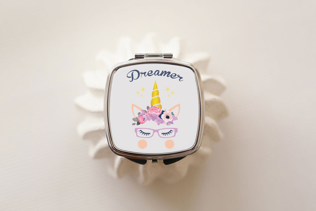 Dreamer - Unicorn Compact Mirror - Fairy Specs