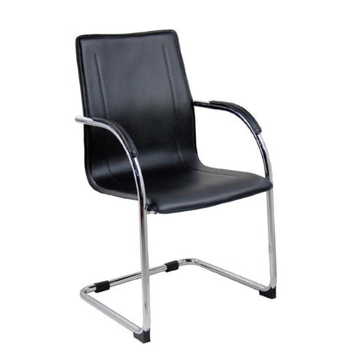 SAVAGE Leather Cantilever Meeting Chair