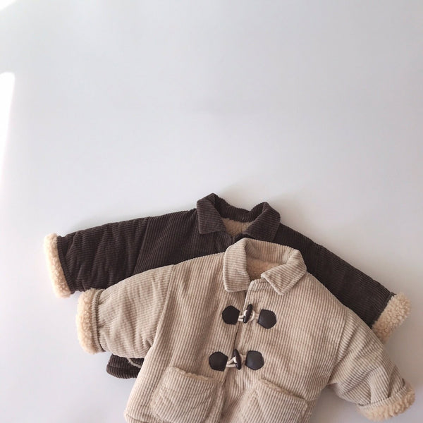 Corduroy Sherpa Lined Jacket, Brown