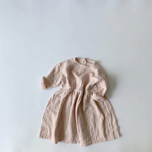 Evelyn Wrinkle Dress, Soft Pink