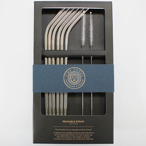 Fine Foods - Stainless Steel Straw Set