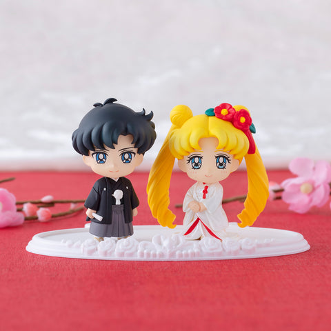 【已截訂】Mega House PETIT CHARA SAILOR MOON Happy Wedding Japanese Wedding Ver. PVC Figure