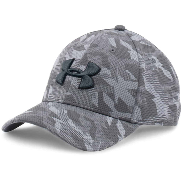 UNDER ARMOUR CAP BLITZING PRINT MEN'S STEEL - MD/LG