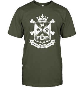 Unisex Fatigue Green Tee FDP Crest