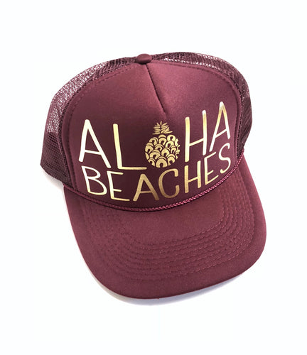 Aloha Beaches Burgundy
