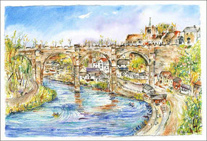 Knaresborough, unframed Giclée limited edition print