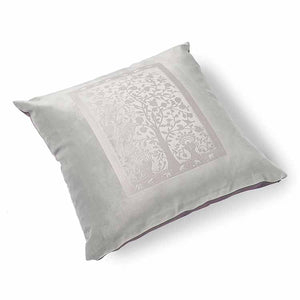 Paradise Velvet Cushion 56 x 56cm pale grey with lilac print