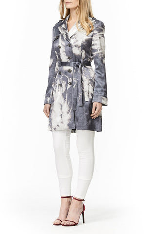 SILVER SILK AVA TRENCH COAT, Outerwear