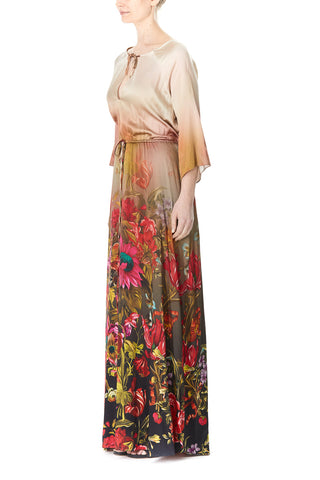SILK CHARMEUSE IRIS MAXI DRESS, Dress
