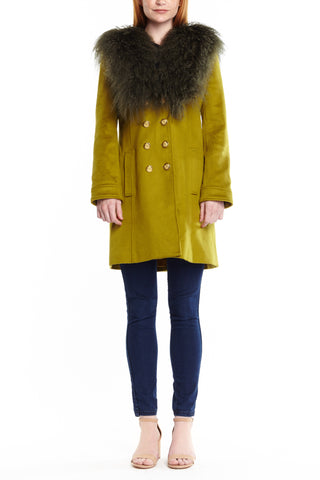 Green Wool Serena Coat,