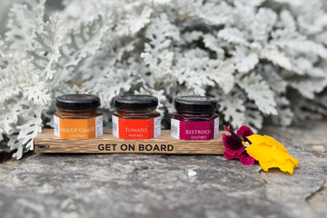 Trio of chutneys by Gibbston Valley Cheese