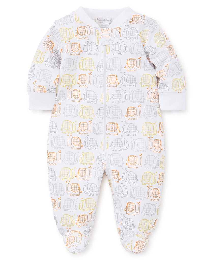 Kissy Kissy Elephant Ears Footie with Zipper