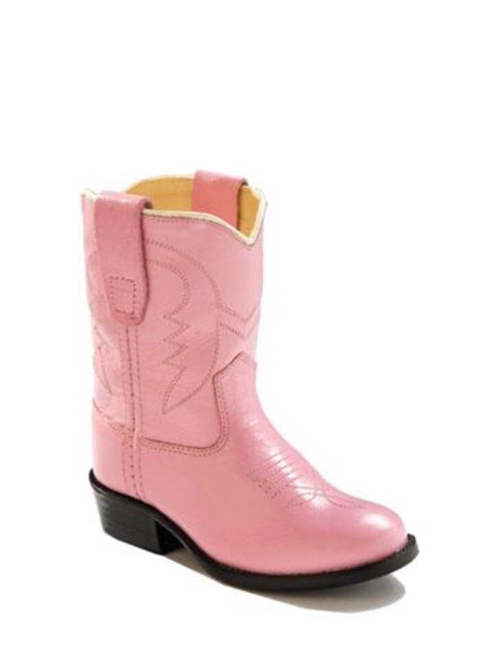 Old West Pink 3119 Classic Cowboy Boot