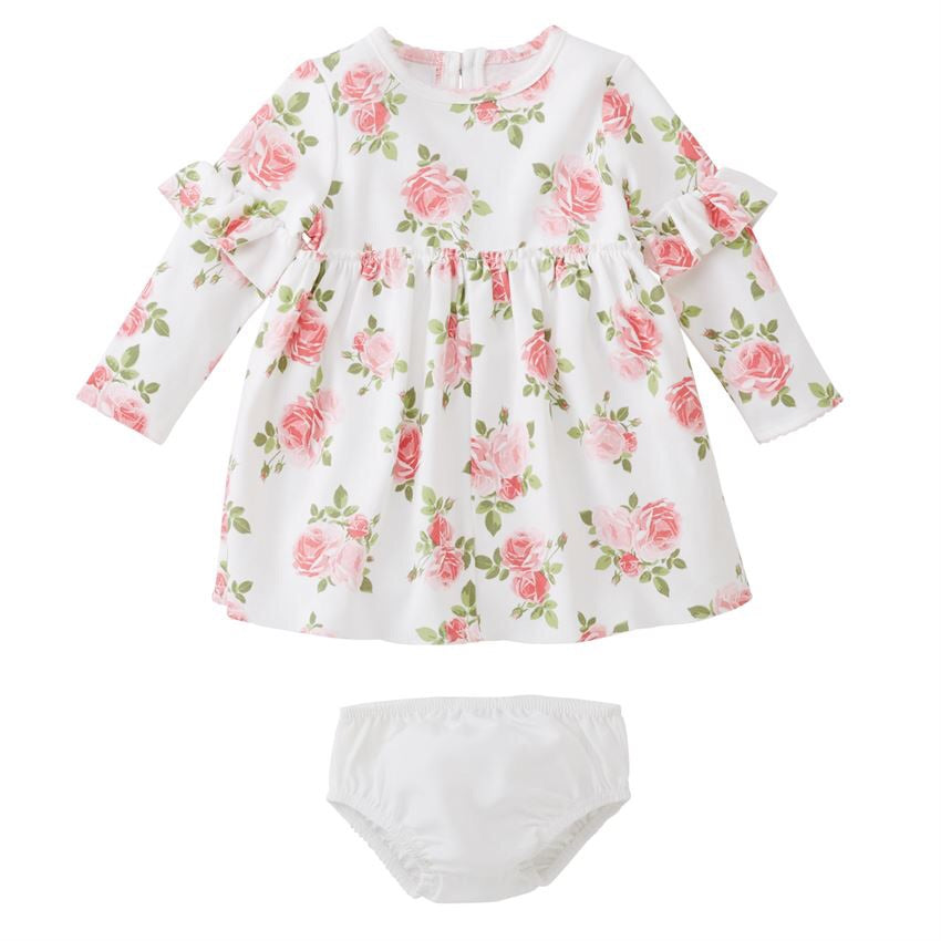 Mud Pie Floral Dress with Bloomers