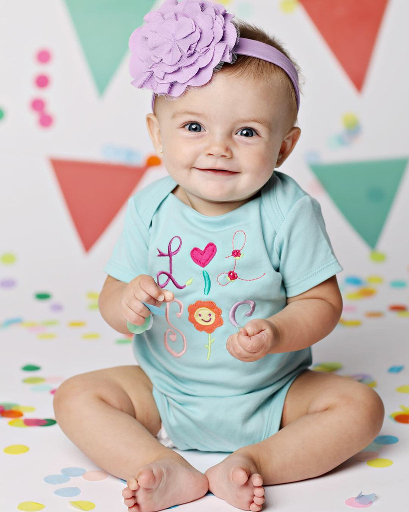 Lemon Loves Layette Lil Sis Onesie and Bloomer Set