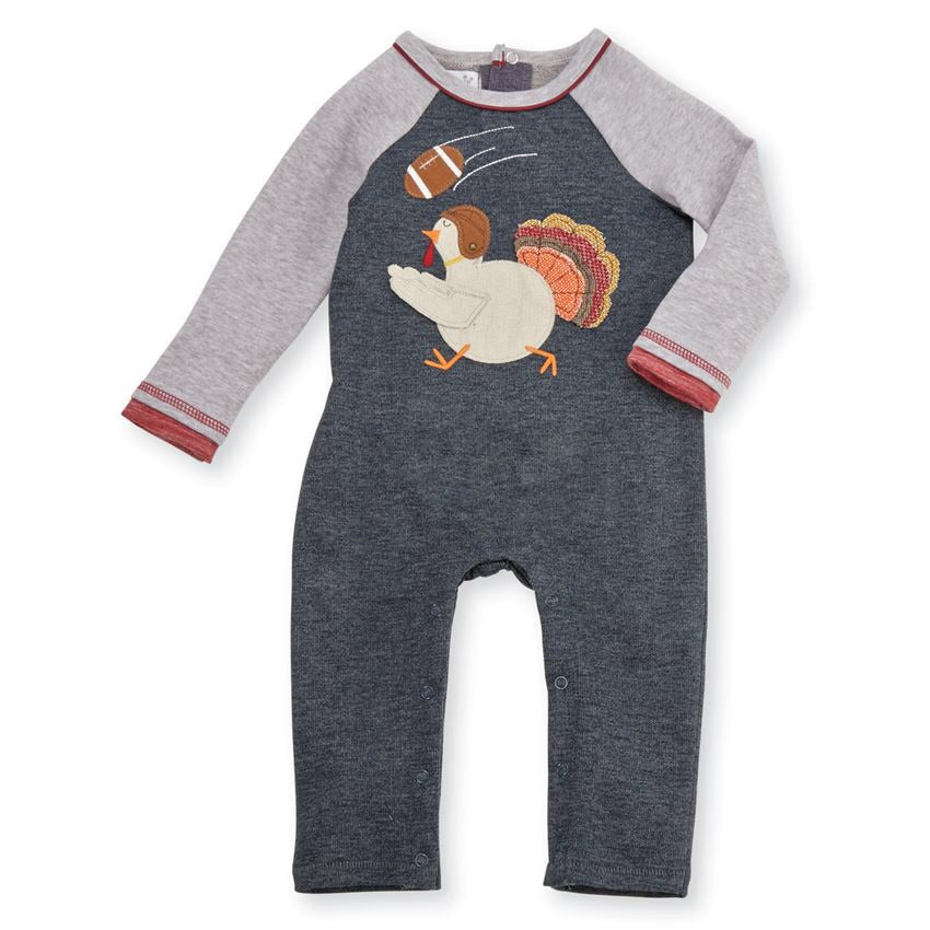 Mud Pie Turkey Football One-Piece