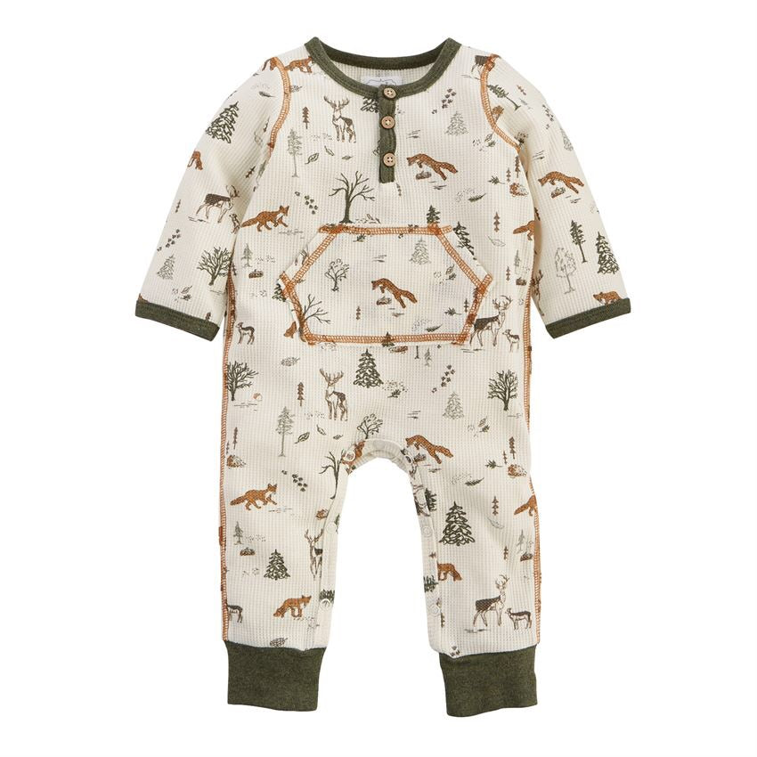 Mud Pie Forest Friends Henley One-Piece