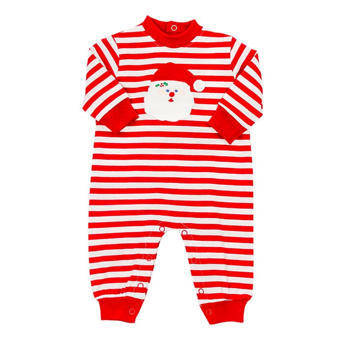 The Bailey Boys Santa Knit Romper